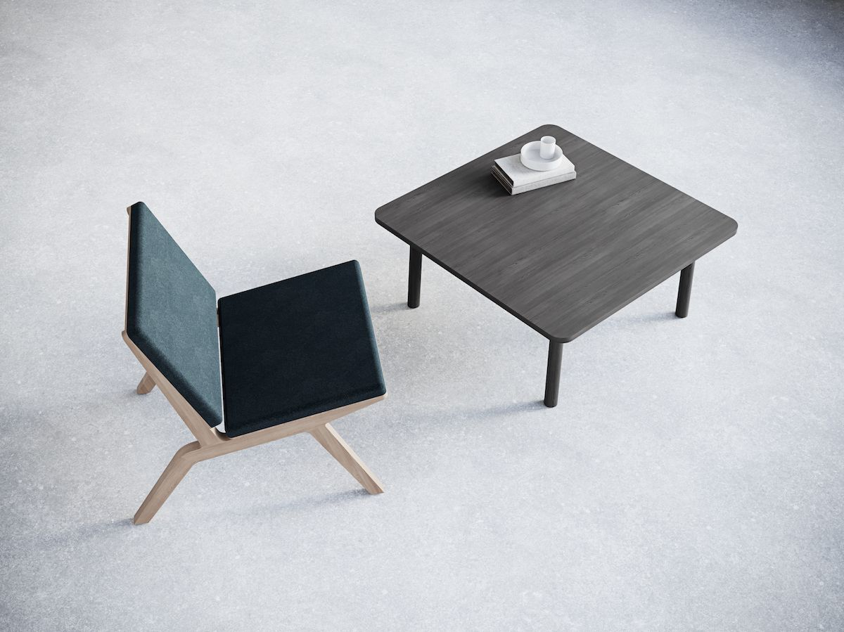 5-4.Square Сoffee Table. Chairs&Objects